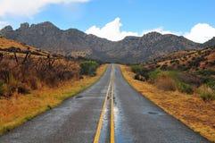 在开放范围的山景 免版税库存照片