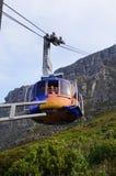 在开普敦,南非制表与缆车的山景 免版税库存图片