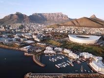 在开普敦,南非的鸟瞰图 免版税库存照片
