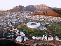 在开普敦,南非的鸟瞰图 免版税库存图片
