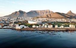 在开普敦,南非的鸟瞰图 库存图片