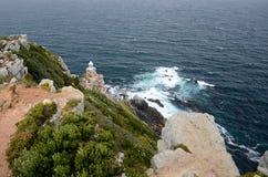 在开普角,南非的灯塔 免版税库存图片