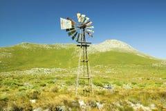 在开普角,好望角的风车,在开普敦之外,南非 免版税图库摄影