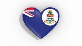 在开曼群岛的颜色旗子的心脏搏动圈 向量例证