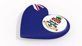 在开曼群岛的颜色旗子的心脏搏动圈 皇族释放例证