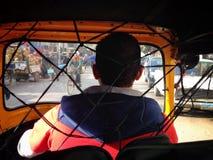 在开罗出租汽车的Tuktuk 免版税库存照片