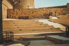 在开罗城堡的老台阶 库存图片