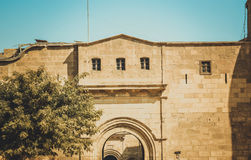在开罗城堡,埃及的老大厦 库存照片