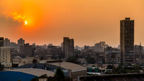 在开罗的日落 库存图片