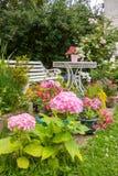 在开花的家庭菜园 免版税图库摄影