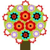在开花的结构树 库存例证