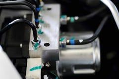 在引擎的制动管 免版税库存照片