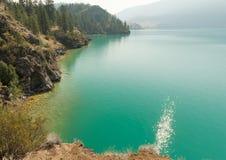 在弗农附近的Kalamalka湖 库存图片