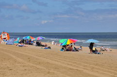 在弗吉尼亚海滩的海滩 免版税库存照片