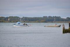 在弗拉塞尔河的三文鱼渔 免版税库存照片