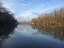 在弗拉塞尔河的圣诞节 免版税图库摄影