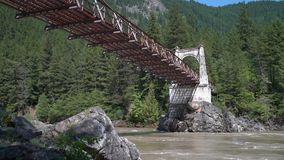 在弗拉塞尔河4K UHD的历史的亚历山德拉桥梁 股票录像
