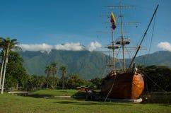 在弗朗西斯科・德米兰达公园的Leander船 库存图片