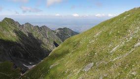在弗格拉什山的看法对Transylvanian高原-罗马尼亚 r 影视素材