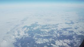 在弗罗茨瓦夫的多雪的冬天领域的鸟瞰图 影视素材
