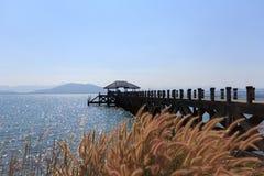 在张海岛的码头 库存图片