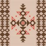 在当地美国风格的Absract几何装饰品 库存照片