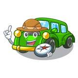 在形状吉祥人的探险家经典汽车 向量例证