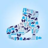 在形状的冬季体育滑冰 免版税库存照片