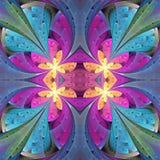 在彩色玻璃窗样式的多彩多姿的花卉样式 您c 图库摄影