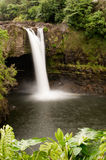 在彩虹河wailuku附近下跌夏威夷hilo 库存照片