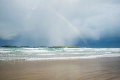在彩虹的海洋 库存照片