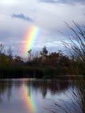 在彩虹的湖 图库摄影