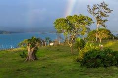 在彩虹的湖 库存照片