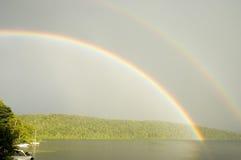 在彩虹的1个湖 图库摄影