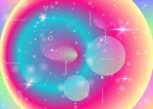 在彩虹背景的充满活力的梯度 全息照相的动态流体 波斯菊全息图 向量例证