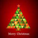 在彩虹颜色的圣诞树 库存照片