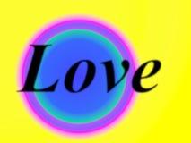 在彩虹颜色的爱 免版税图库摄影
