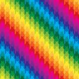 在彩虹颜色的经典犬牙样式 库存图片