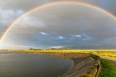 在彩虹水 库存图片