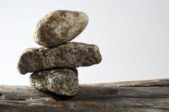 在彼此的三块石头 库存照片