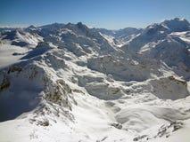 瑞士雪 库存图片