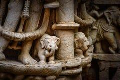 在很好步的复杂大象在勒利德布尔,印度 库存图片