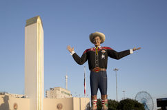 在得克萨斯状态市场的大Tex  免版税图库摄影