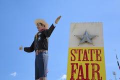 在得克萨斯状态市场的大Tex  库存照片