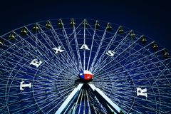 在得克萨斯状态市场的弗累斯大转轮  图库摄影