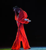 在得到沿现代舞蹈肩膀方式的责任  库存图片