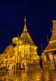 在微明的土井素贴寺庙,清迈,泰国地标  库存照片