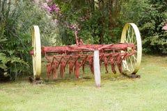 在德国博物馆的古老耕犁Frutillar的,智利 库存图片