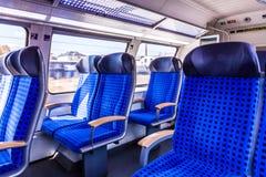 在德国火车里面 库存图片