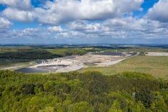 在德国的北部的欧洲的最大的有毒废料垃圾填埋Ihlenberg 库存照片